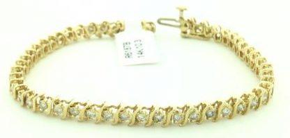 14 Karat Gold Bracelet/10.3G 2.0CT TDW