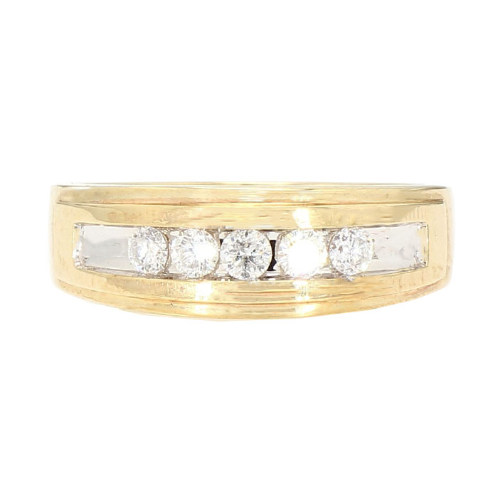 "DIAMOND WEDDING BAND-10 Karat Gold| 4.5G| 0.25CT TDW| SIZE 11.75"""