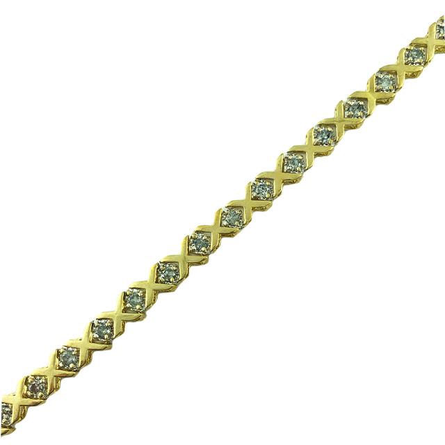 "DIAMOND BRACELET- 10K YELLOW GOLD| 8.8 GRAMS| 1.00CT TDW| 7.50"""