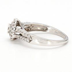 "DIAMOND ENGAGEMENT RING- 10K WHITE GOLD| 3.60G| 1.00CT TDW| SIZE 8.50"""