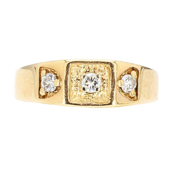 "DIAMOND BAND- 14K YELLOW GOLD| 10.0G| 0.50CT TDW| SIZE 11.50"""