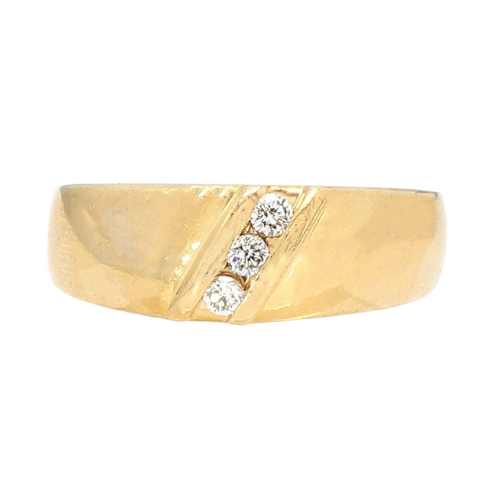 DIAMOND WEDDING BAND- 14K YELLOW GOLD| 7.30G| 0.25CT TDW| SIZE 9""