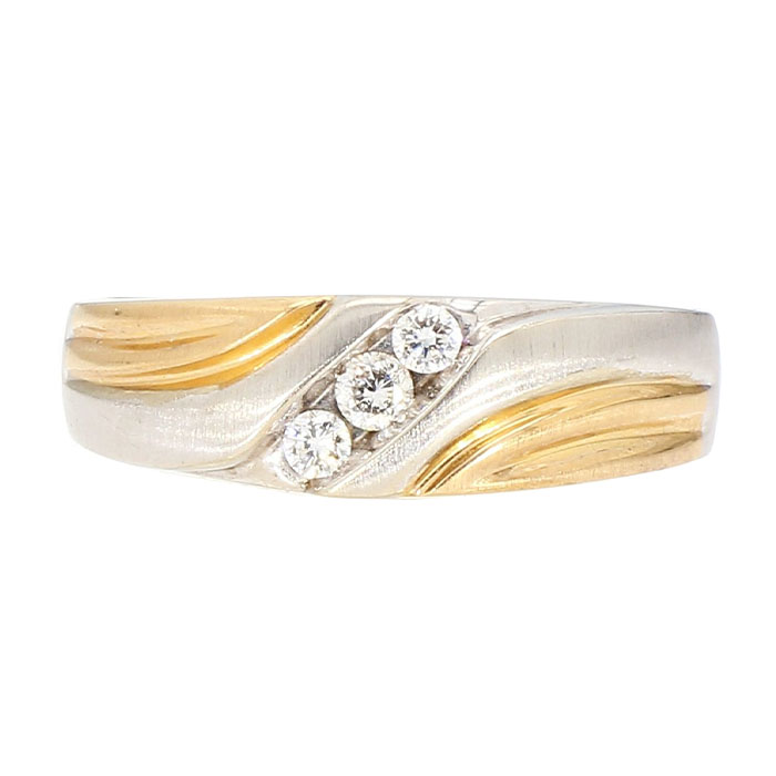 DIAMOND WEDDING BAND- 14K GOLD| 9.1G| 0.15CT TDW| SIZE 10.50""