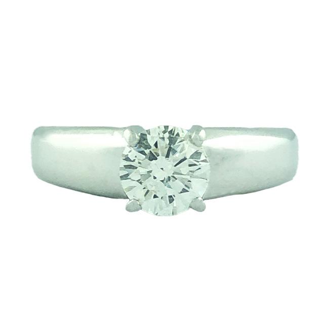 "SOLITAIRE DIAMOND ENGAGEMENT RING- 14 Karat Gold| 0.99T(C)|SIZE 8"""