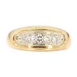 "DIAMOND BAND- 14K YELLOW GOLD| 9.6G| 0.75CT TDW| SIZE 12"""