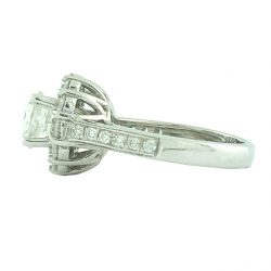 ENGAGEMENT RING- 14K WHITE GOLD| 4.5G| 1.00CT(C)| 1.50CT TDW SIZE 4.75""