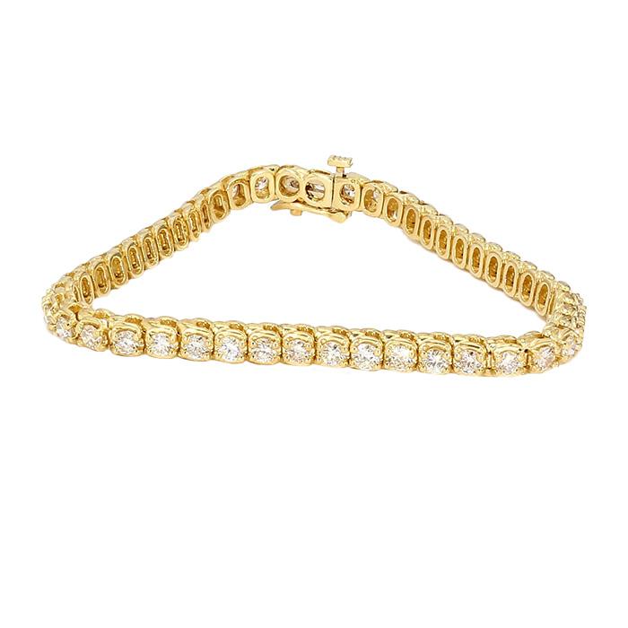 "DIAMOND BRACELET- 14K YELLOW GOLD| 15.6G| 4.00CT TDW| LENGTH 7"""