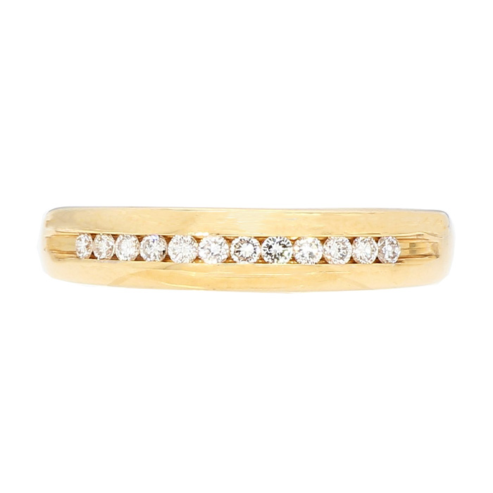 DIAMOND BAND- 14K YELLOW GOLD| 4.3G| SIZE 11""