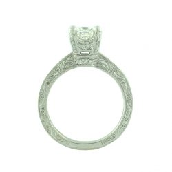 CEL CERTIFIED DIAMOND ENGAGEMENT RING- 14K WHITE GOLD| 0.95CT(C)| SIZE 7""