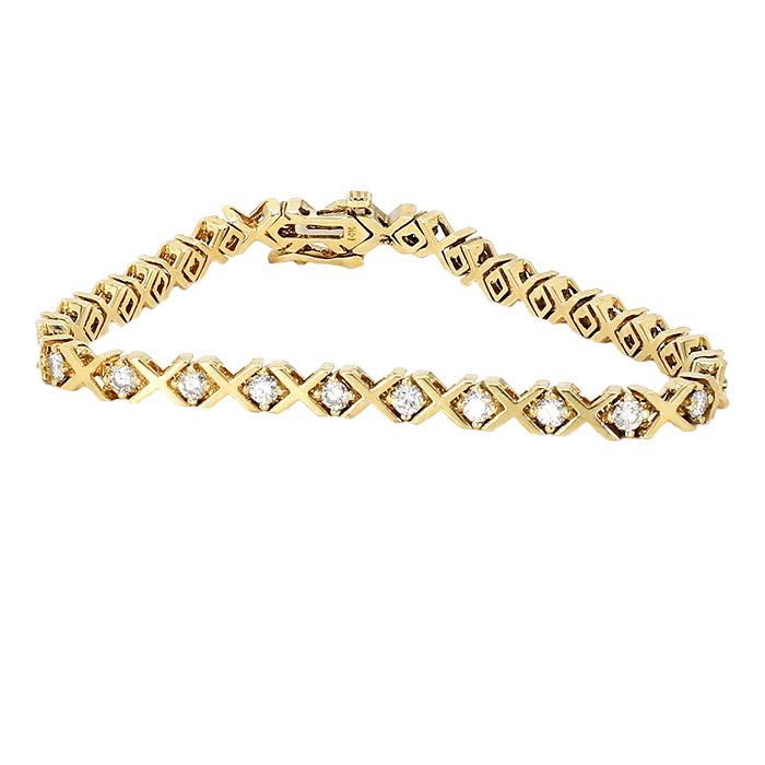 "DIAMOND BRACELET- 14K YELLOW GOLD| 15.7G| 3.0CT TDW| LENGTH 7"""