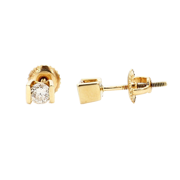 DIAMOND STUD EARRINGS- 14K YELLOW GOLD| 1.1G| 0.40CT TDW