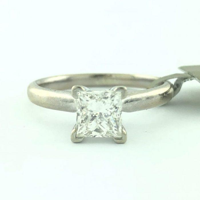 "14 Karat White Gold Solitaire Engagement Ring/2.0G/3.7"" 0.75CT TDW"