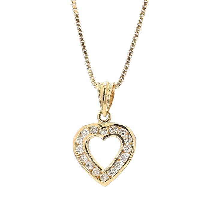 "14K YELLOW GOLD DIAMOND NECKLACE| 3.5G| LENGTH 18"""