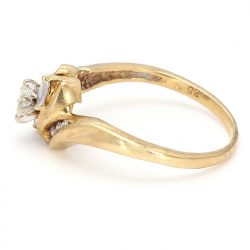 14K YELLOW GOLD ENGAGEMENT RING| 3.30G|  0.60CT TDW| SIZE 8""