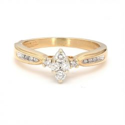 """14K YELLOW GOLD ENGAGEMENT RING  4.0G  SIZE 7.75"""""""