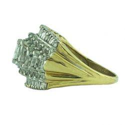 "14K YELLOW GOLD DIAMOND RING| 10.3G| 2.00CT TDW| SIZE 10"""