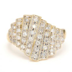 """14K YELLOW GOLD RING  4.3G  SIZE 6"""""""