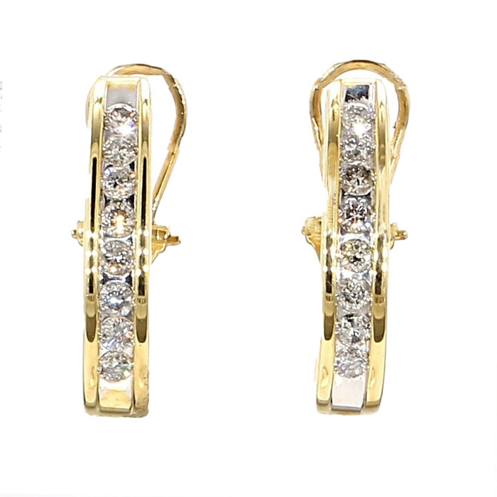 14K YELLOW GOLD DIAMOND EARRINGS| 0.50CT TDW