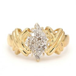 10K YELLOW GOLD RING| 2.9G| SIZE 7.25""