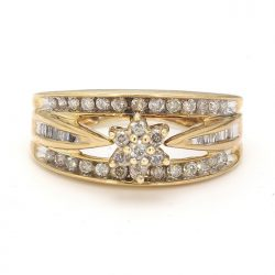 10K YELLOW GOLD ENGAGEMENT RING| 3.3G| SIZE 5.25""
