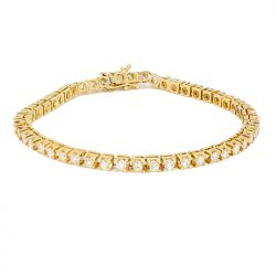 "DIAMOND BRACELET- 10K YELLOW GOLD| 11.4G |4.0CT TDW| LENGTH 8.25"""