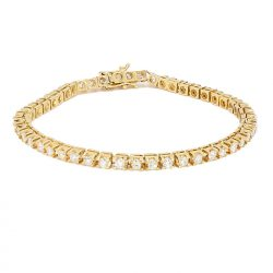 DIAMOND BRACELET- 14K YELLOW GOLD | 2.50CT TDW| SIZE 7""