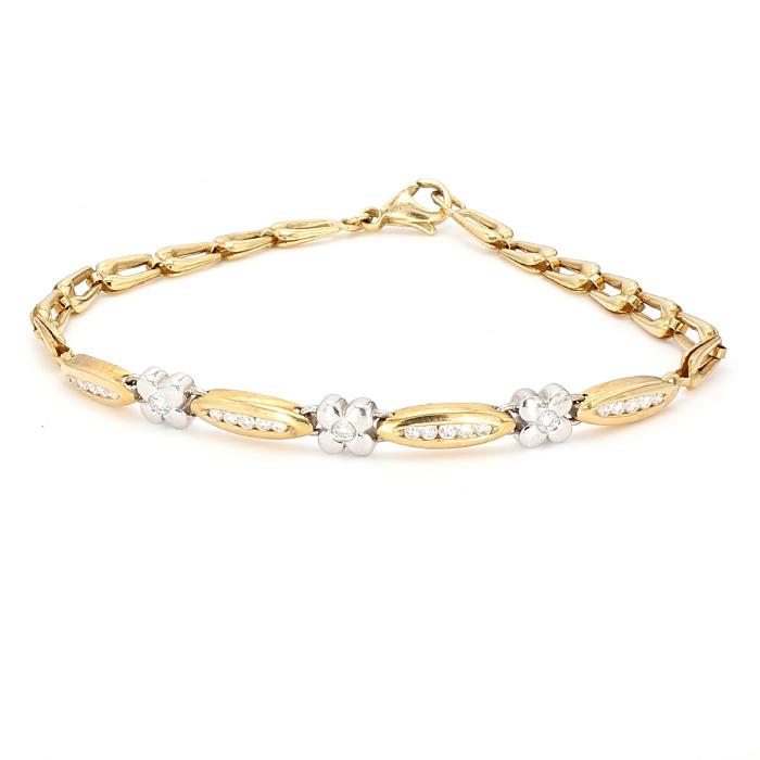 "DIAMOND BRACELET- 14K YELLOW GOLD| 5.9G| LENGTH 7"""