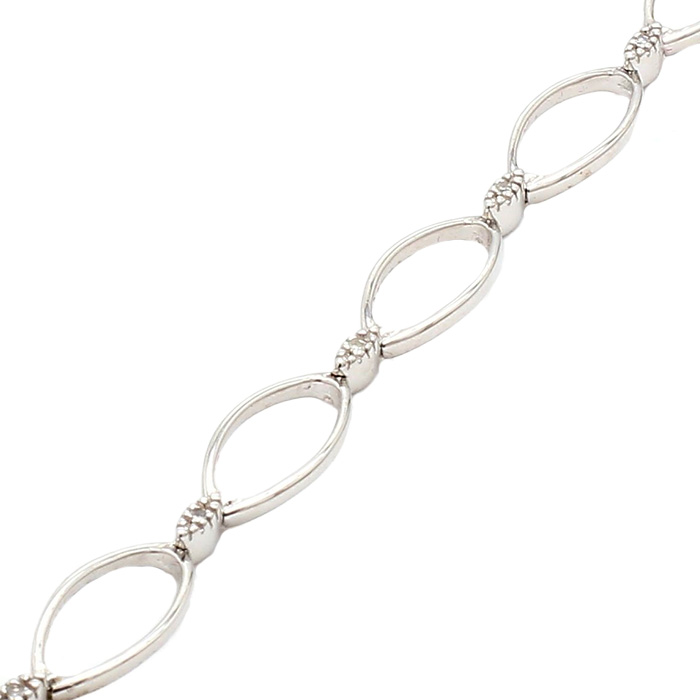 WOMENS BRACELET- 14K WHITE GOLD| 6.3G| LENGTH 7""