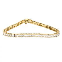 "DIAMOND BRACELET- 14K YELLOW GOLD|  2.00CT TDW| 12.0G| LENGTH 7.25"""