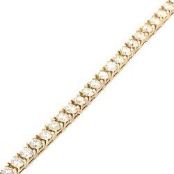 "DIAMOND BRACELET- 14K YELLOW GOLD| 10CT TDW|  19.0G | LENGTH 7.50"""