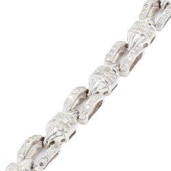 """DIAMOND BRACELET- 14K WHITE GOLD  26.4G  5.00CT TDW 216PC DIA  LENGTH 7"""""""