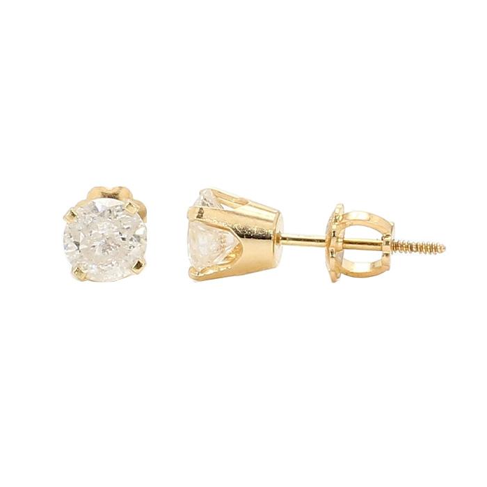 DIAMOND STUD EARRINGS- 14K GOLD| 1.00CT TDW
