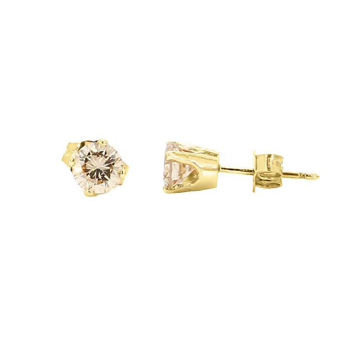 DIAMOND STUDS- 14K YELLOW GOLD| 1.0G| 0.75CT TDW
