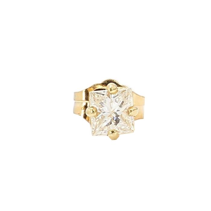 SINGLE STUD DIAMOND EARRING- 14K GOLD  0.8G  0.25CT TDW