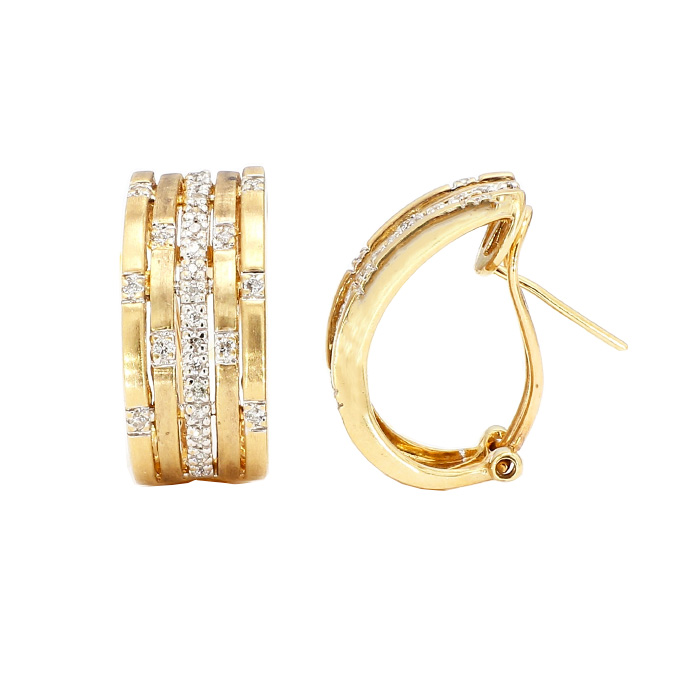 DIAMOND EARRINGS- 14K YELOW| 7.0G| 0.25CT TDW