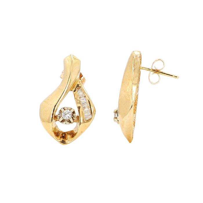 DIAMOND EARRINGS-14K YELLOW GOLD  5.0G