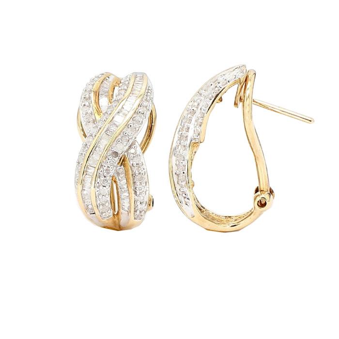 DIAMOND HOPP EARRINGS- 10K YELLOW GOLD| 5.4G| 1.00CT TDW