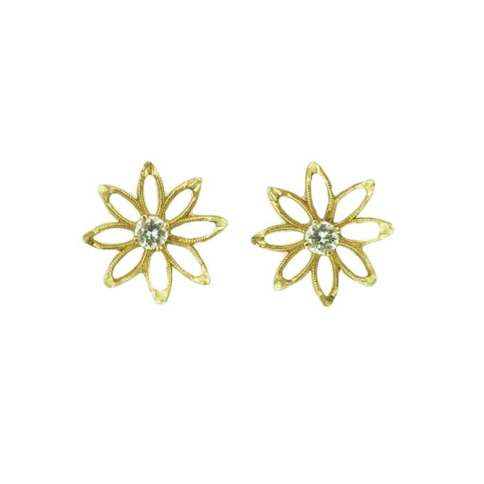 DIAMOND EARRINGS- 14K GOLD| 1.4G