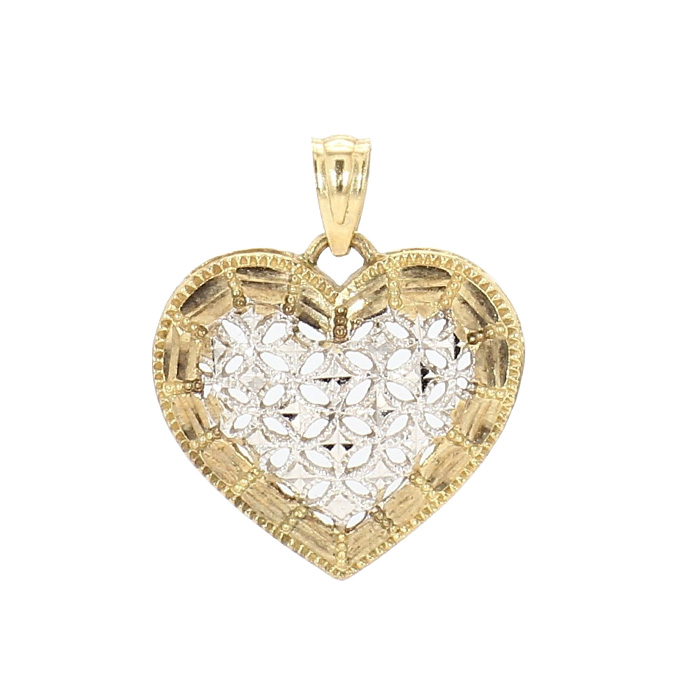 HEART PENDANT-10K YELLOW GOLD  1.2G