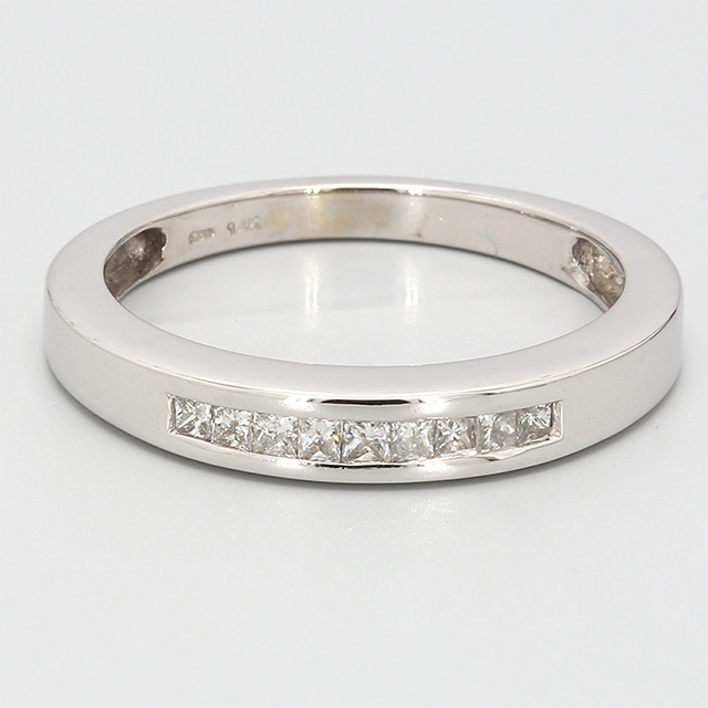 14K WHITE GOLD BAND| 3.0G | SIZE 6.75""
