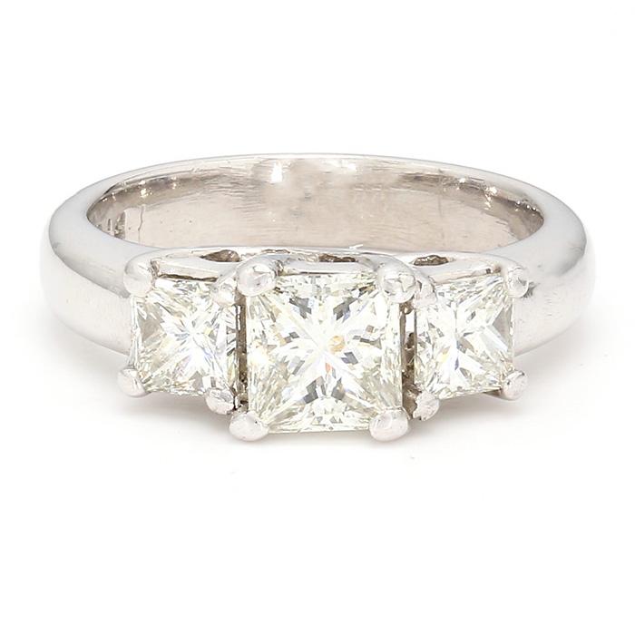 """DIAMOND ENGAGEMENT RING- PLATINUM  1.00CT(C)  2.00CT TDW  SIZE 4.75"""""""
