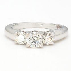 "DIAMOND ENGAGEMENT RING- 14K WHITE GOLD| 0.75CT TDW| SIZE 4.5"""