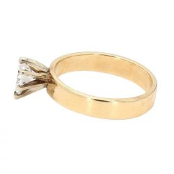 """SOLITAIRE ENGAGEMENT RING- 14K YELLOW GOLD