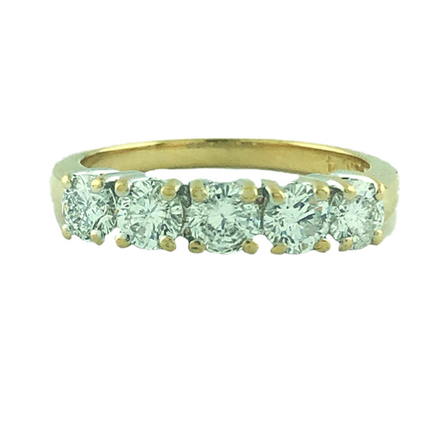 DIAMOND WEDDING BAND-14K YELLOW GOLD| 3.60G| 1.00CT TDW| SIZE 6.75""