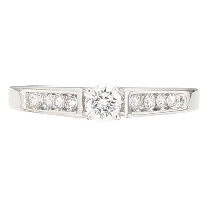 "DIAMOND ENGAGEMENT RING- 14K WHITE GOLD| 2.9G| 0.50CT TDW| SIZE 6"""