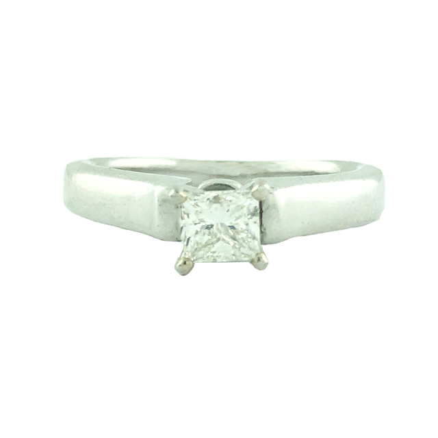 """EGL CERTIFIED SOLITAIRE DIAMOND ENGAGEMENT RING- 14K WHITE GOLD