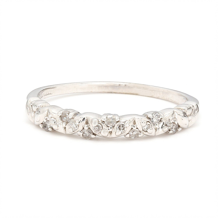 10K WHITE GOLD WEDDING BAND| 1.6G| SIZE 6.75""