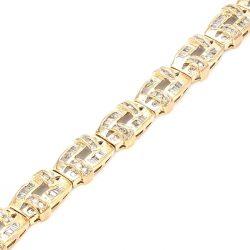 "DIAMOND BRACELET- 10K YELLOW GOLD| 3.00CT TDW| 20.0G| LENGTH 7"""