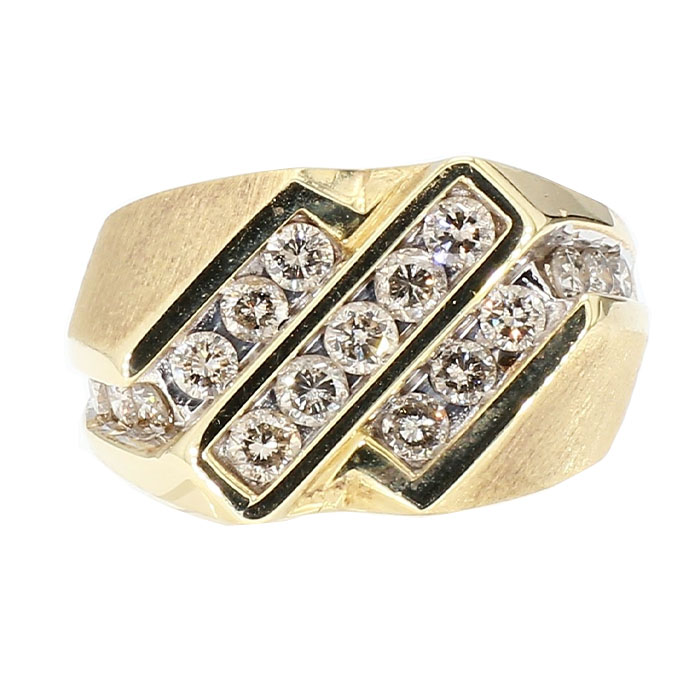 """DIMAOND RING- 14K YELLOW GOLD  5.7G  1.00CT TDW  SIZE 6.75"""""""