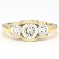 14K YELLOW GOLD ENGAGEMENT RING| 4.2G| 1.00CT TDW| SIZE 5""